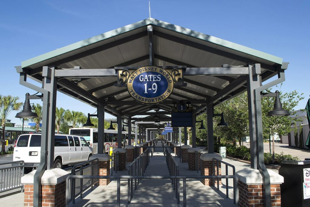 Disney World Express Transportation, disney springs bus stop2