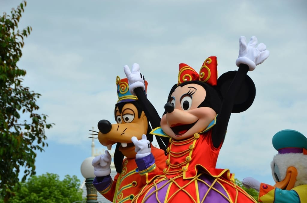 minnie and goofy parade