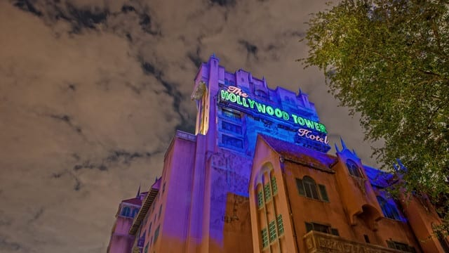 Tower of terror nighttime