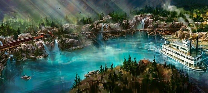 Disneyland Railroad and Rivers of America