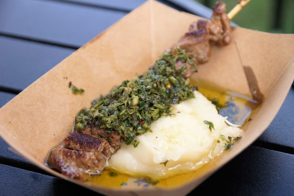 Food and Wine 2016, Patagonia - Grilled Beef Skewer, Must Try Epcot Food and Wine 2016