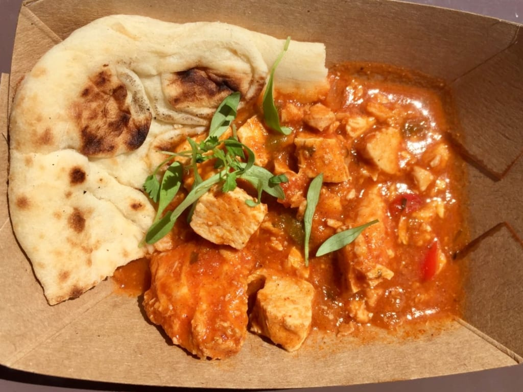 Food and wine 2016, africa, butter chicken, Africa Review - 2016 Epcot Food and Wine Festival