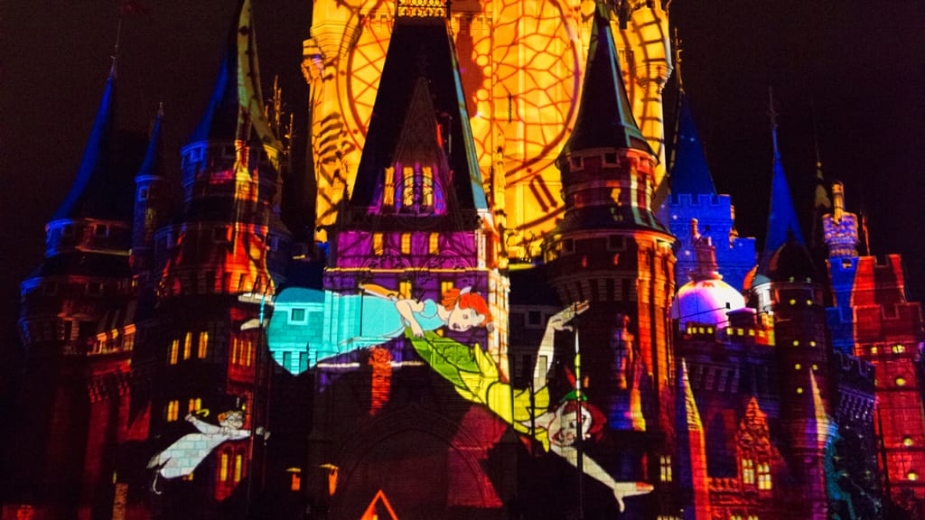 Once Upon a Time Projection Show in Tokyo Disneyland