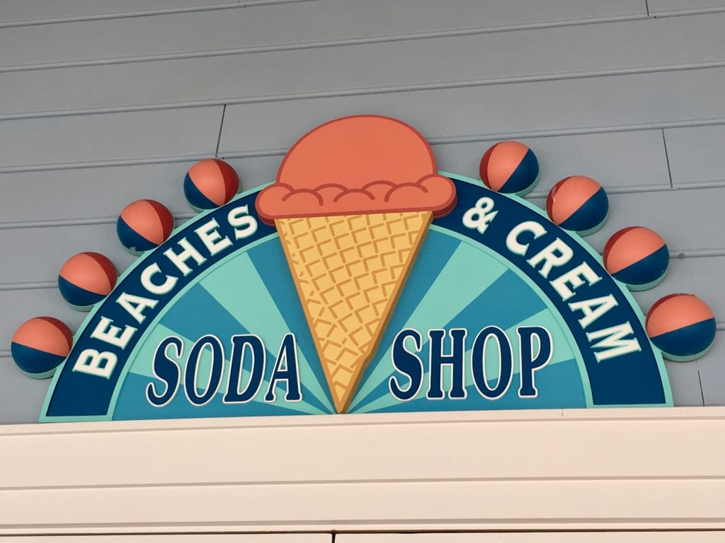 Beaches and Cream review sign