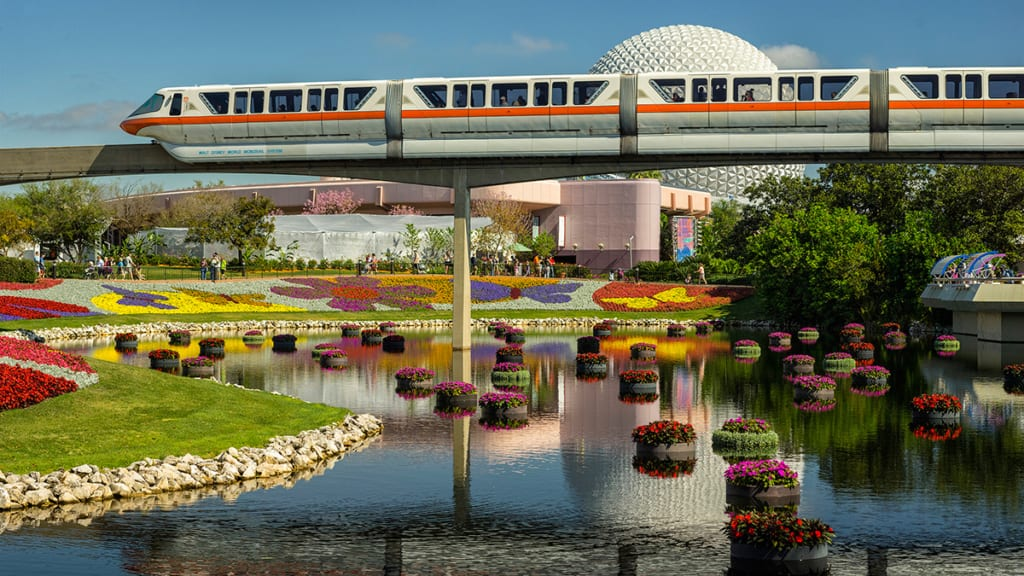 Disney Monorail Piece Falls Off