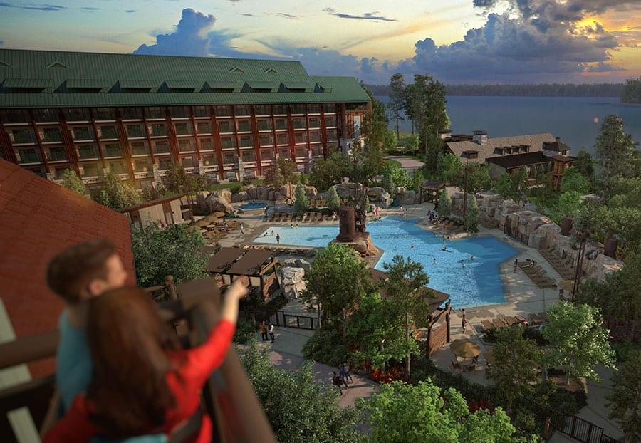 Disney's Wilderness Lodge New Pool Area