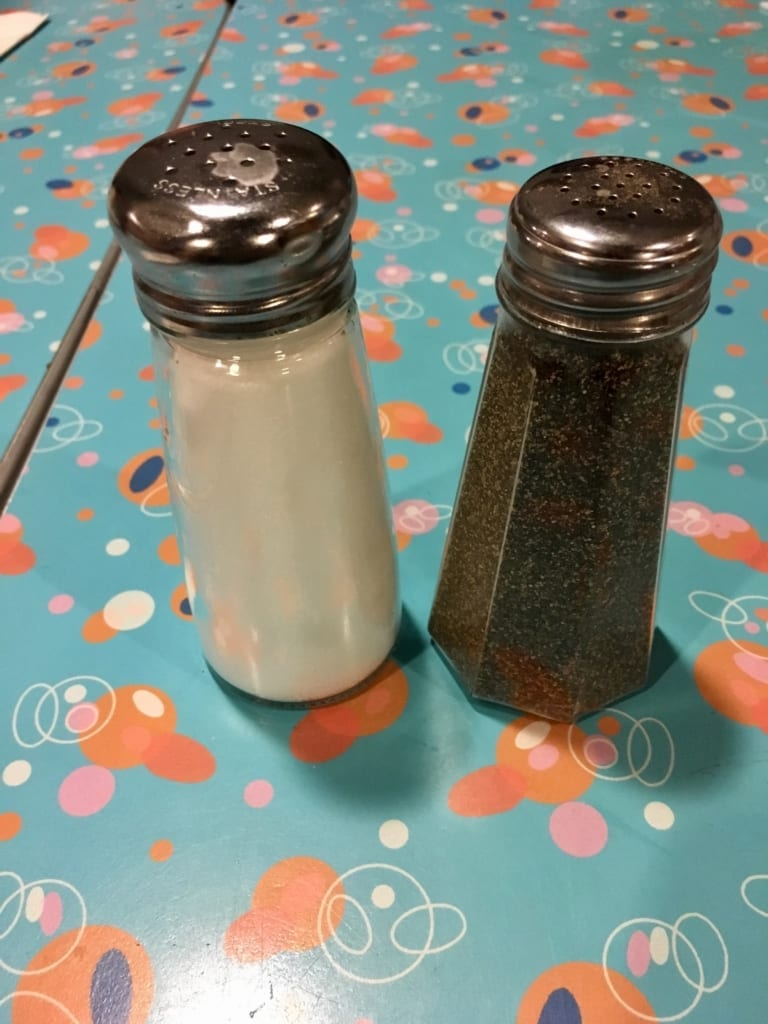 50s Prime Time Cafe Review salt pepper