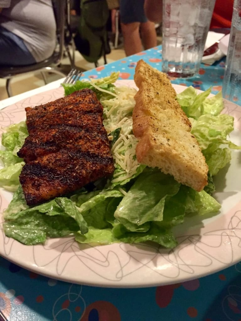 50s Prime Time Cafe Review salad salmon