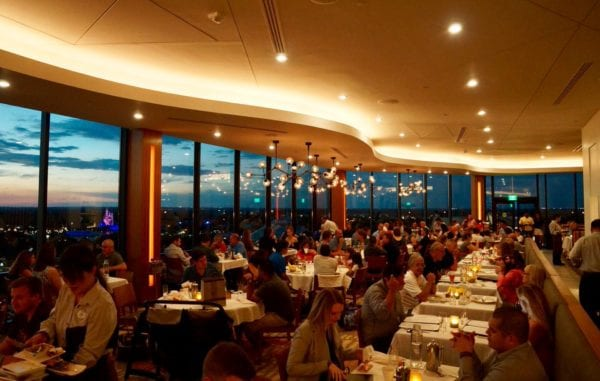 California Grill dining room sunset right