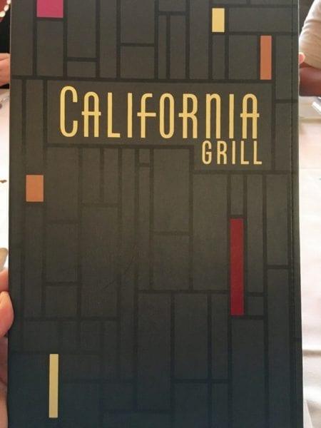 California Grill Menu Cover