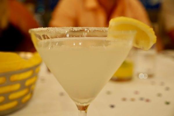 California Grill Review Lemon Drop Martini