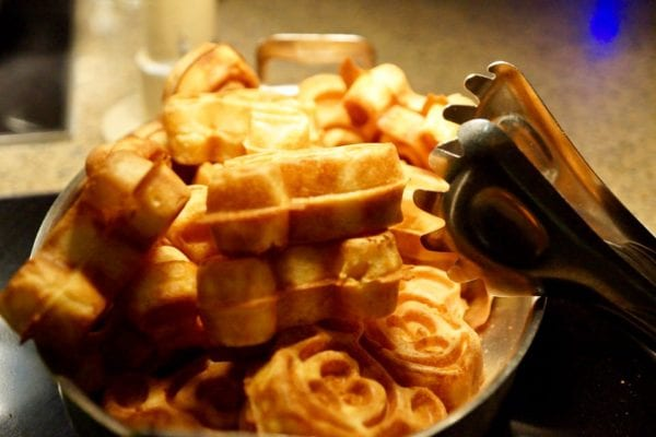 Cape May Cafe Breakfast Review buffet mickey waffles
