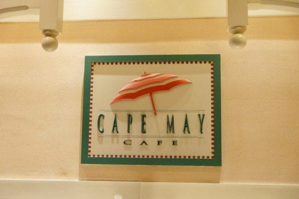 Cape May Cafe Breakfast Review Entrance Sign