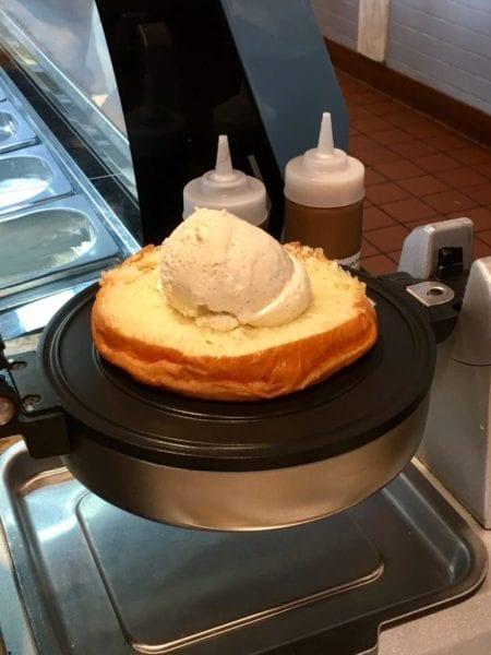 L'Artisan des Glaces Review brioche ice cream sandwich before