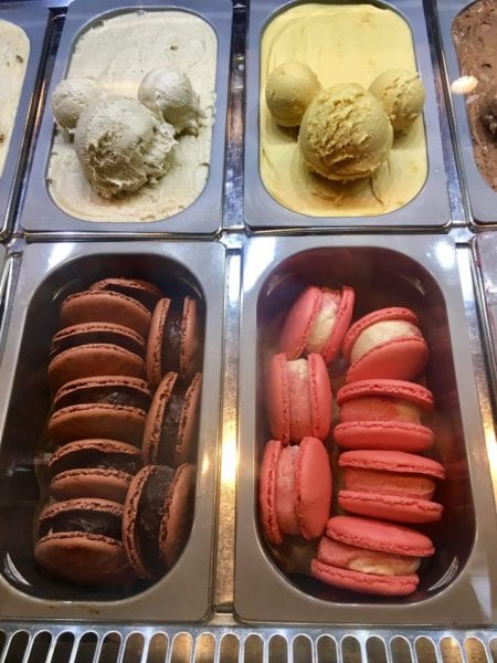 L'Artisan des Glaces Review Ice Cream Mickey scoops and macaron ice cream sandwiches