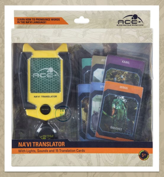 Na'vi Translator Device and trading cards