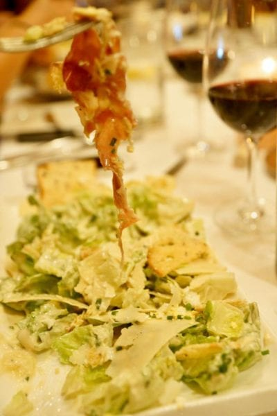 Yachtsman Steakhouse Full Review caesar salad vertical
