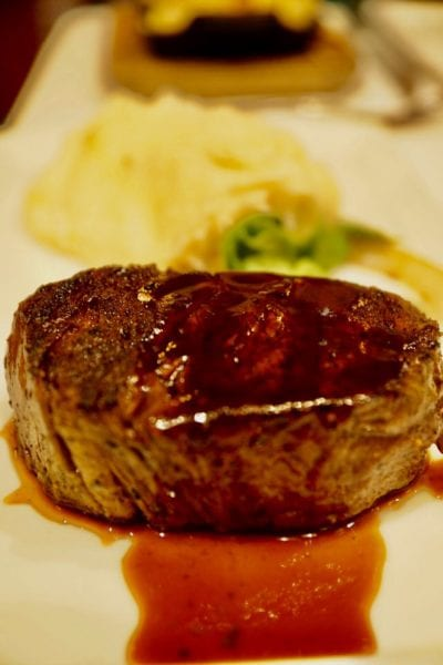 Yachtsman Steakhouse Full Review filet mignon close