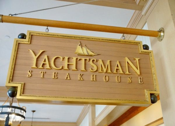 Yachtsman Steakhouse Full Review front sign close