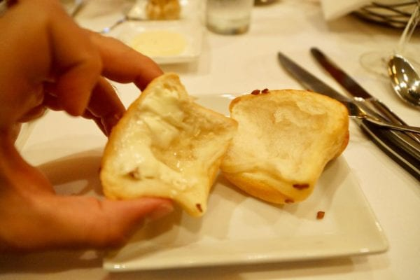 Yachtsman Steakhouse Full Review onion bread inside with butter