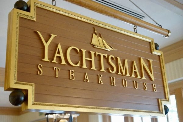 Yachtsman Steakhouse Full Review sign