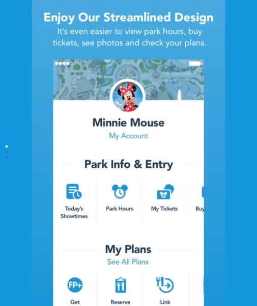 My Disney Experience App Redesign