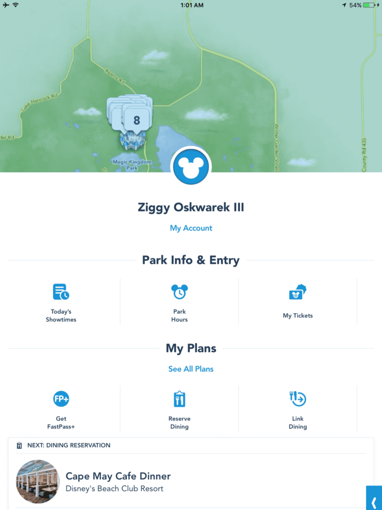 My disney experience app redesign for Redesign my room app
