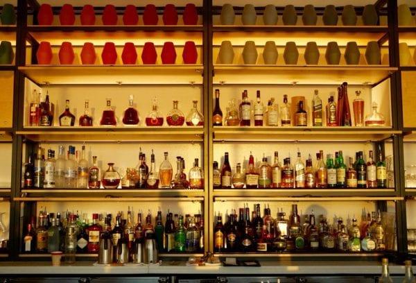 California Grill Bar Shelves Alcohol