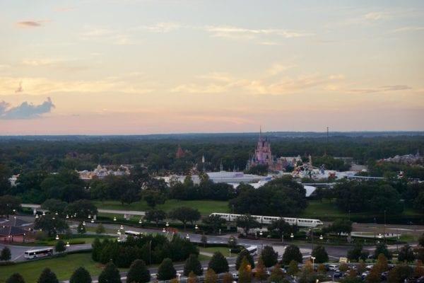 California Grill sunset view Magic Kingdom cinderella castle