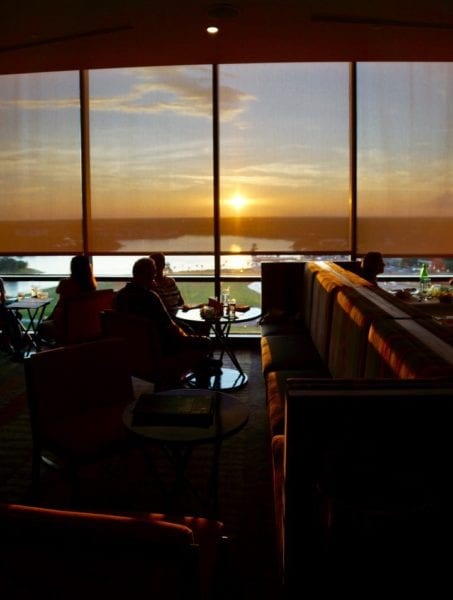 California Grill sunset through the windows