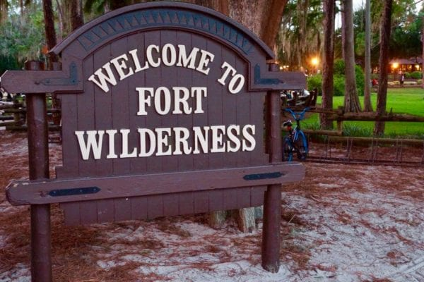 Disney's Fort Wilderness Campground Entrance Sign