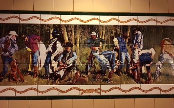 Pioneer Hall Hoop Dee Doo Revue Bathroom Mural