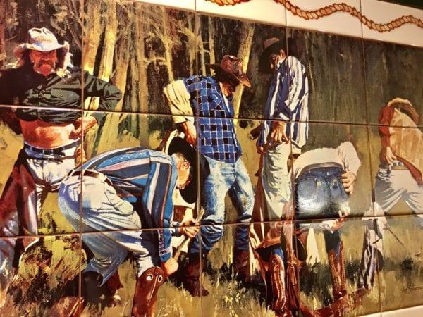 Pioneer Hall Hoop Dee Doo Revue Bathroom Mural Funny