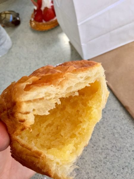 Les Halles Boulangerie Patisserie Almond Croissant Frangipane inside