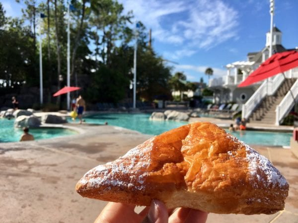 Les Halles Boulangerie Patisserie Almond Croissant Frangipane by the pool