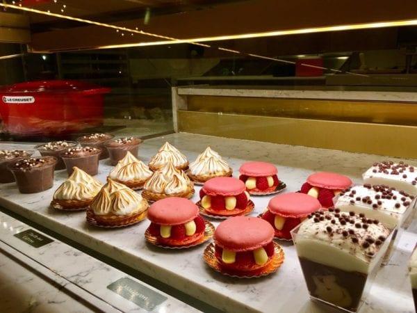 Les Halles Boulangerie Patisserie Bakery Display Case Desserts