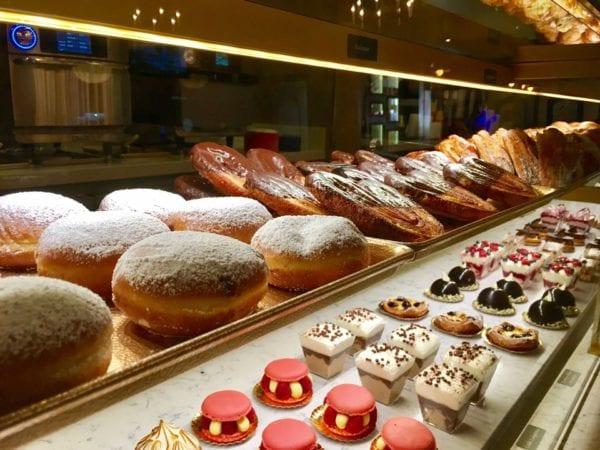 Les Halles Boulangerie Patisserie display case Beignets
