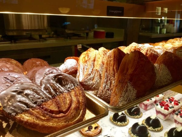 Les Halles Boulangerie Patisserie Review Elephant Ears and Frangipane display