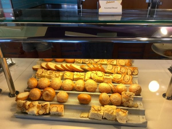 Disney Cruise Cabanas Lunch Review Bread and Rolls
