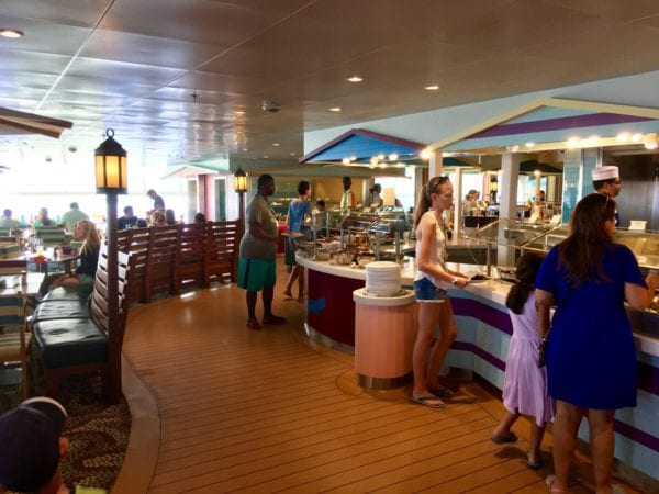 Disney Cruise Cabanas Lunch Review Buffet Line
