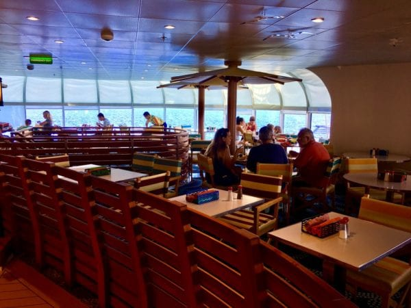 Disney Cruise Cabanas Lunch Review Dining Room Inside