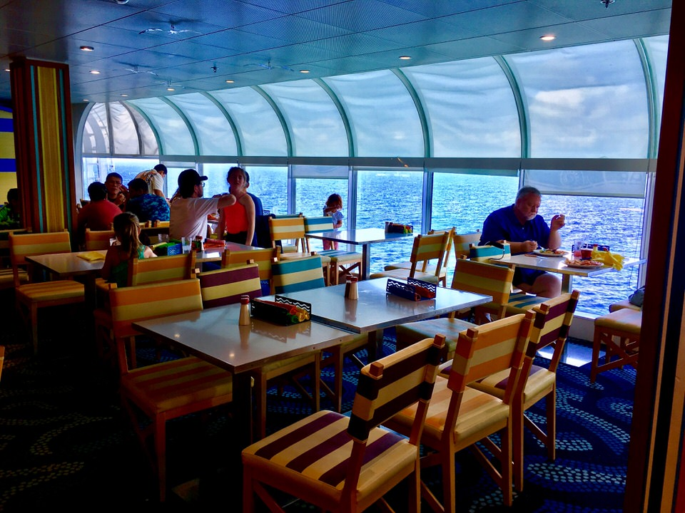 Disney Cruise Cabanas Lunch Review Dining Room Tables Inside These Are Great Along The Windows With An Ocean View