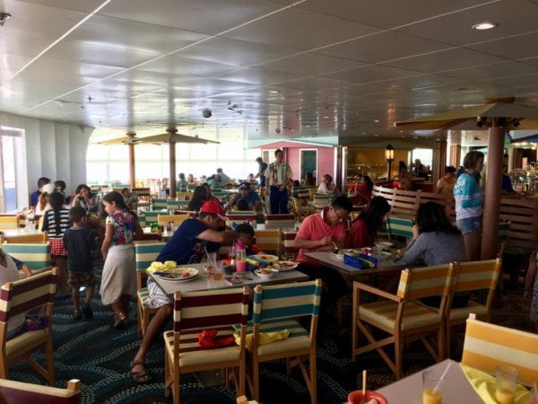 Disney Cruise Cabanas Lunch Review Dining Room Tables Inside