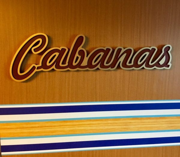 Disney Cruise Cabanas Lunch Review Entrance Sign