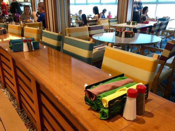 Disney Cruise Cabanas Lunch Review Inside Counter