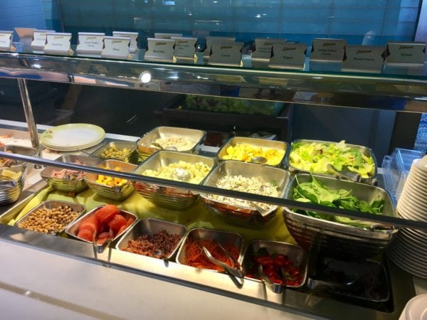 Disney Cruise Cabanas Lunch Review Dining Room Salad Bar