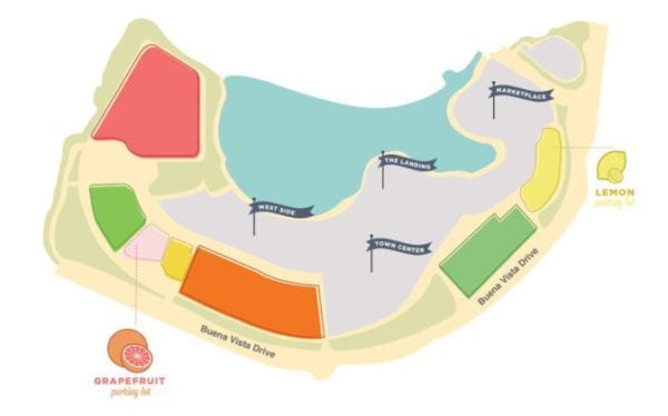 Disney Springs Preferred Parking map