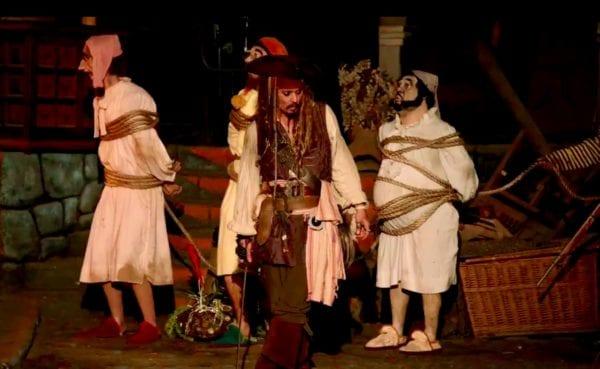 Johnny Depp Visits Pirates of the Caribbean in Disneyland
