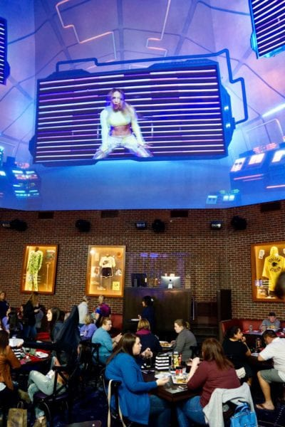 Planet Hollywood Observatory Review Big Screen interior