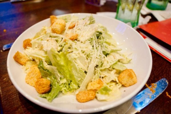 Planet Hollywood Observatory Review Caesar Salad